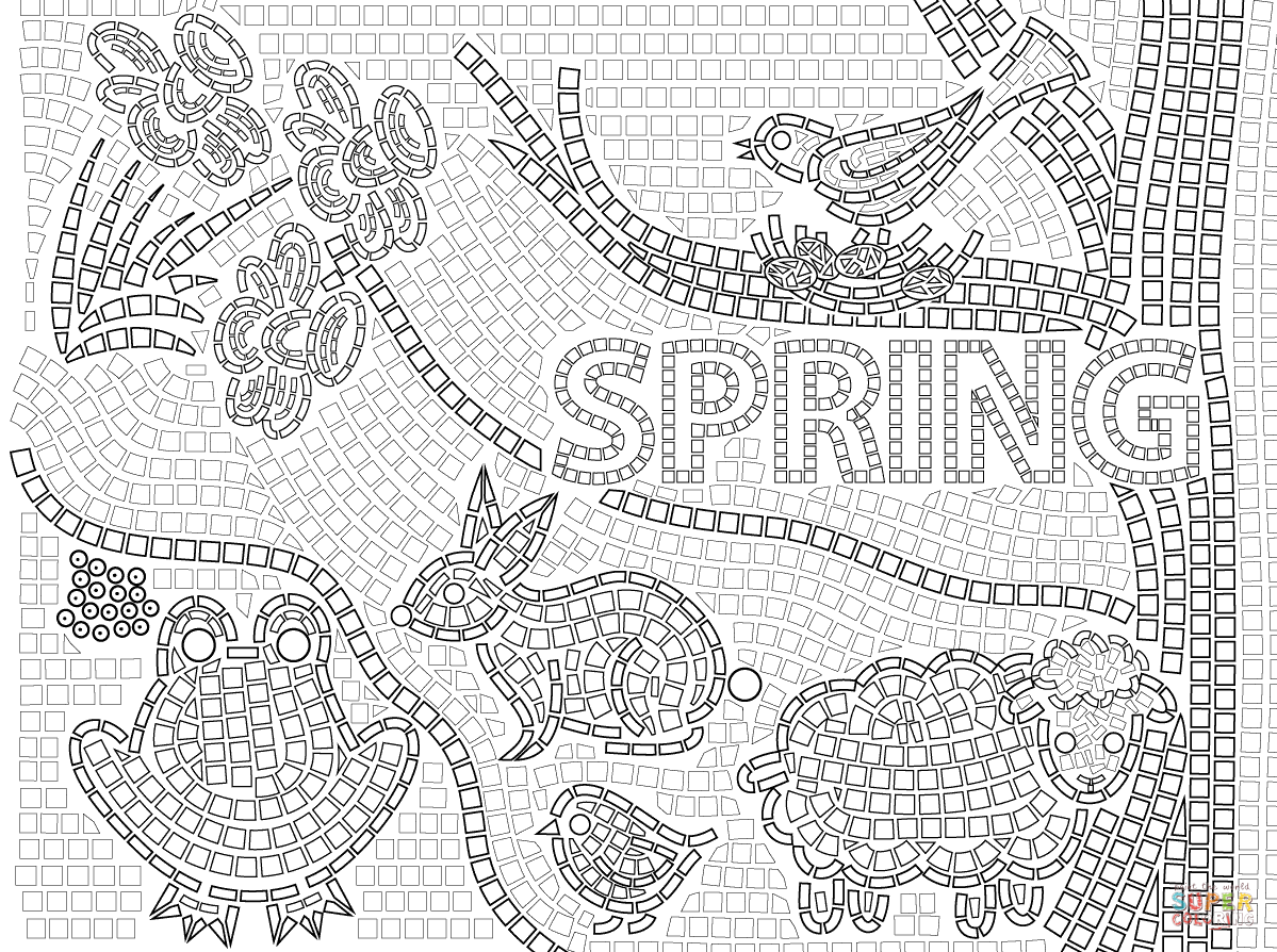 Free Mosaic Patterns Coloring Pages, Download Free Clip Art, Free ... | 894x1199