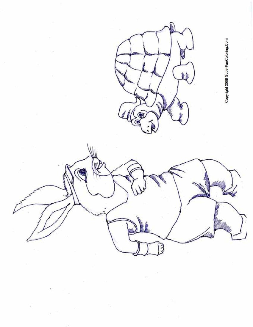 Tortoise and the hare coloring pages for Tortoise and the hare coloring page