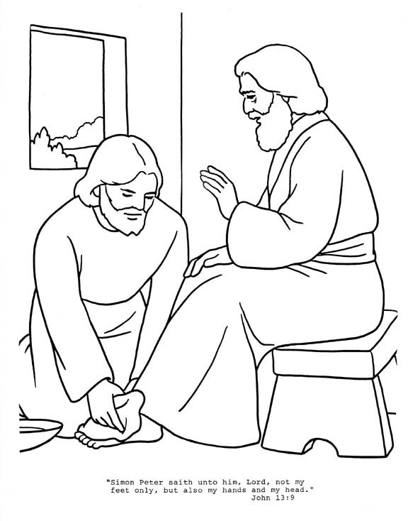 desciples of jesus coloring pages - photo#30
