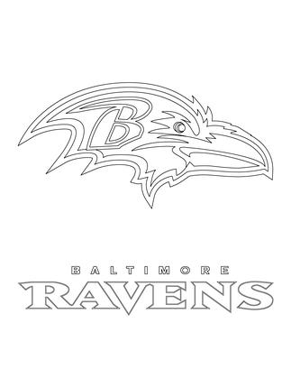 Baltimore ravens coloring pages az coloring pages for Ravens coloring pages