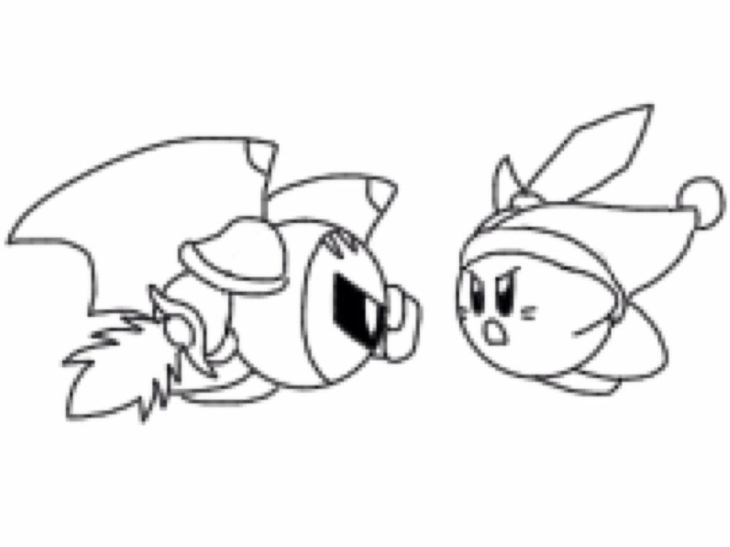 kirby coloring pages meta knight colorinenet 17580