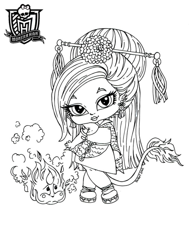 all about monster high dolls baby monster high character free free printable monster high coloring pages
