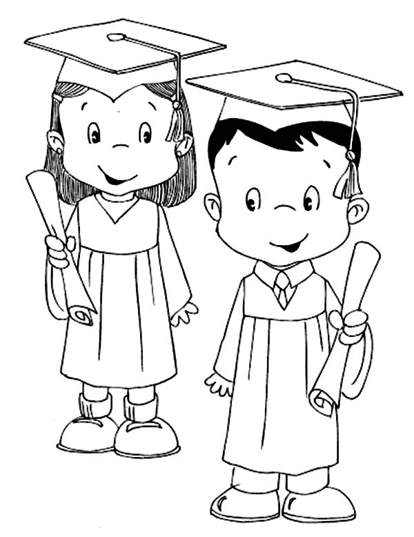 Graduation Cap Coloring Page - Coloring Home