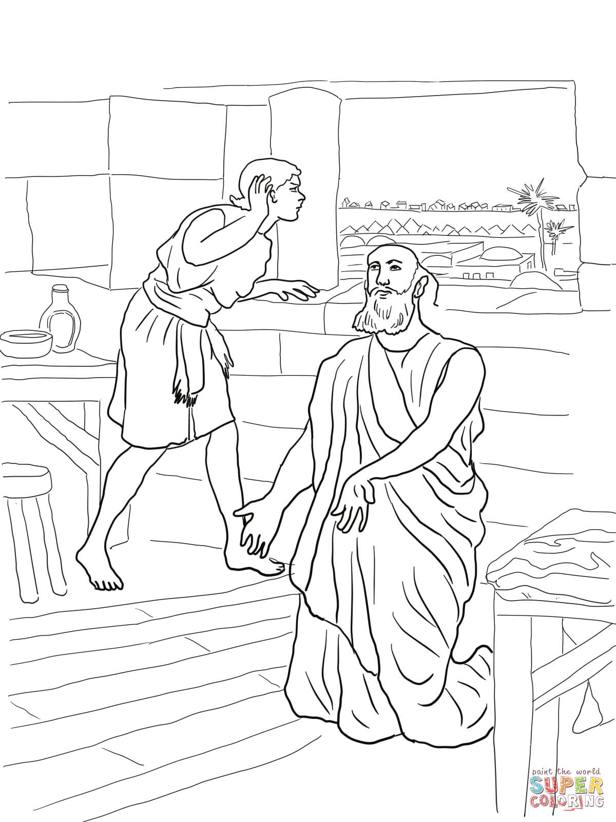 coloring pages naaman - photo#16