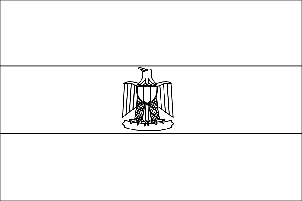 Egypt Flag Coloring Page - Coloring Home