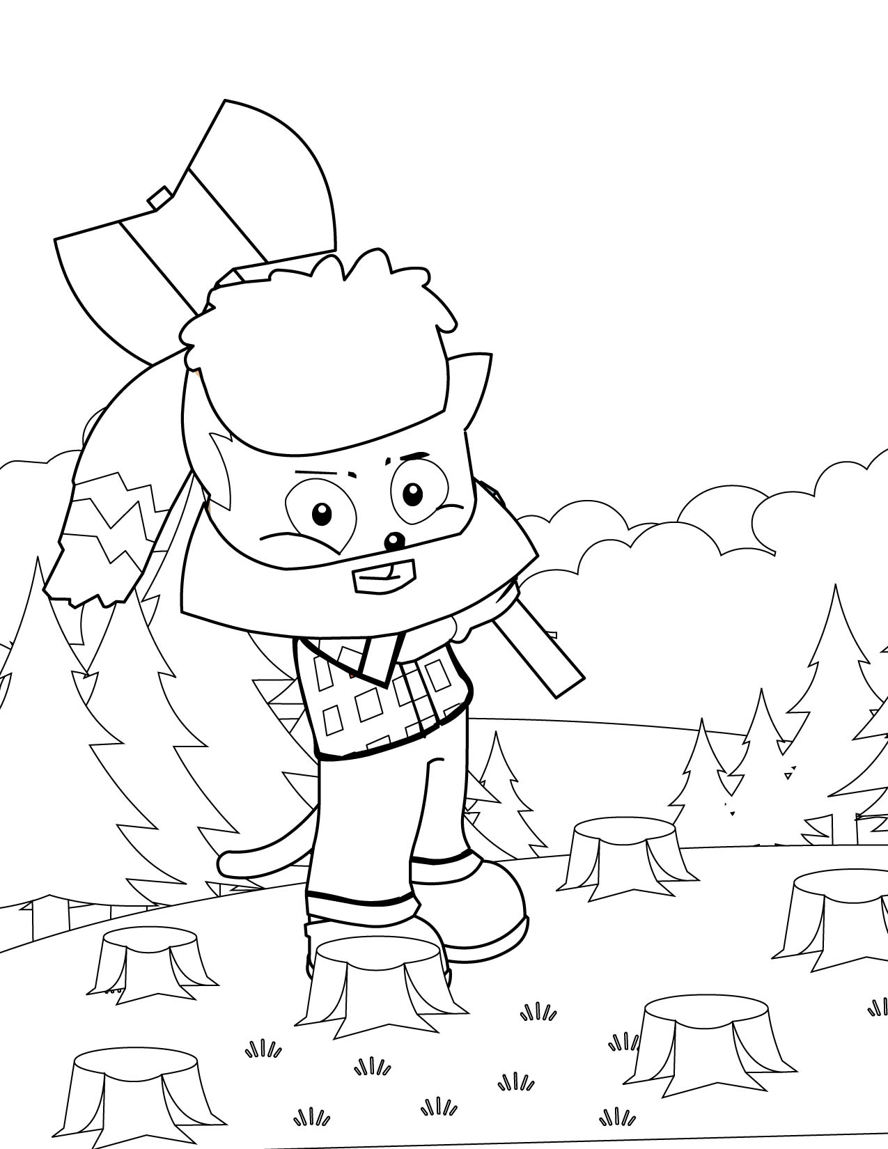 paul bunyan coloring pages kids - photo#1