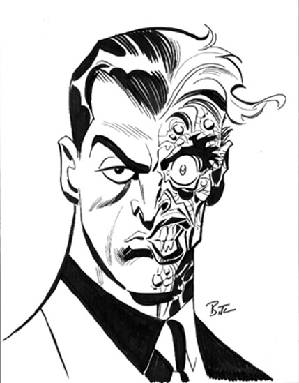 Two Face Coloring Page - Coloring Home
