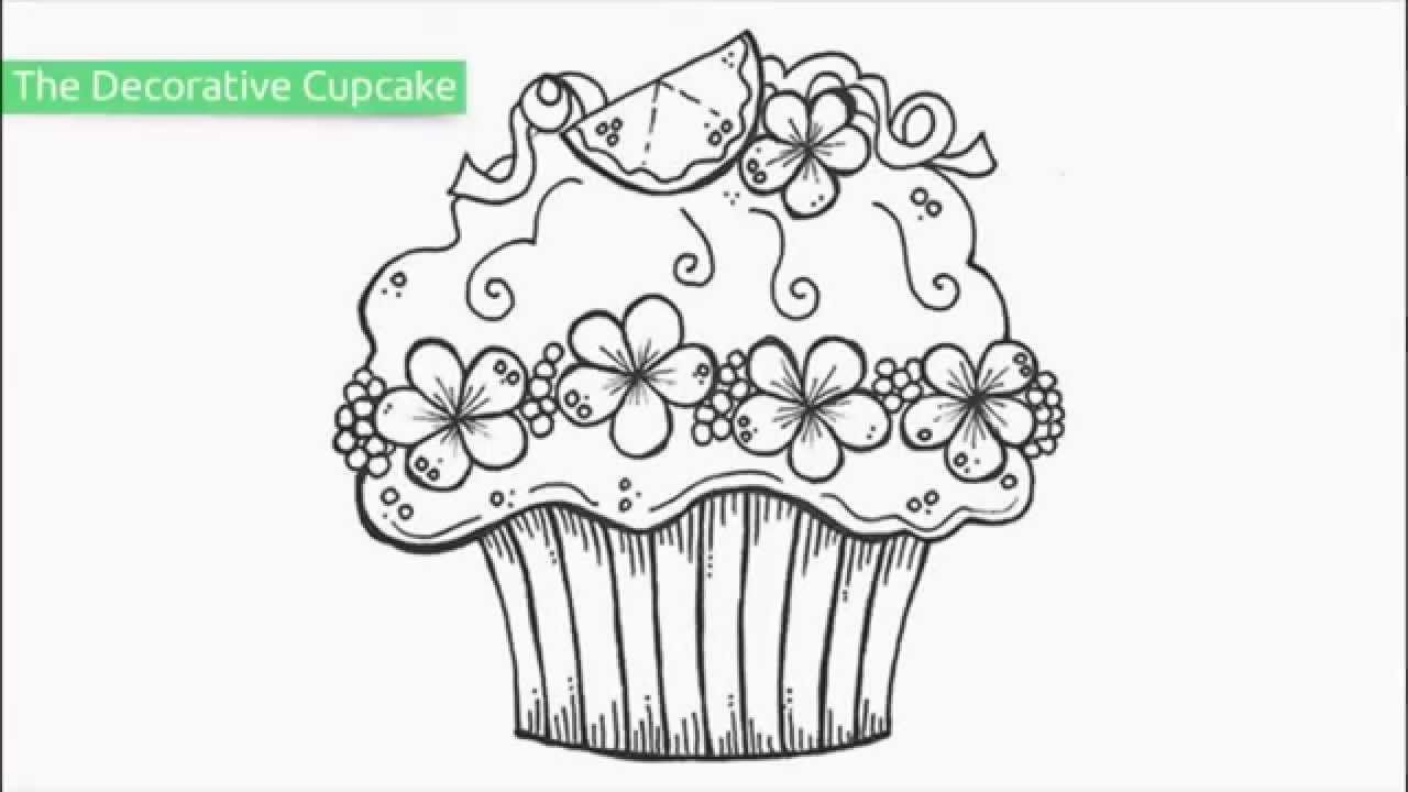 Coloring Pages Cupcake Printables