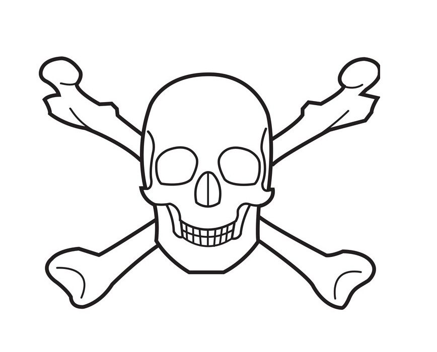 Printable Coloring Pages Of Skulls