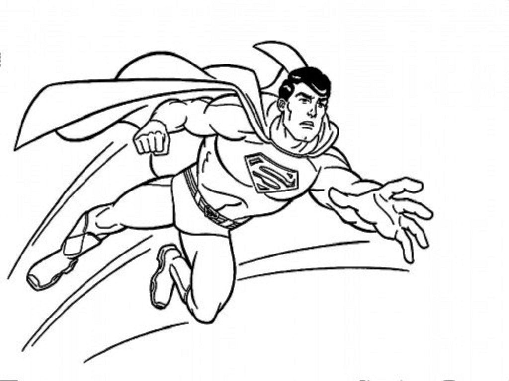 Superman Easy Coloring Pages