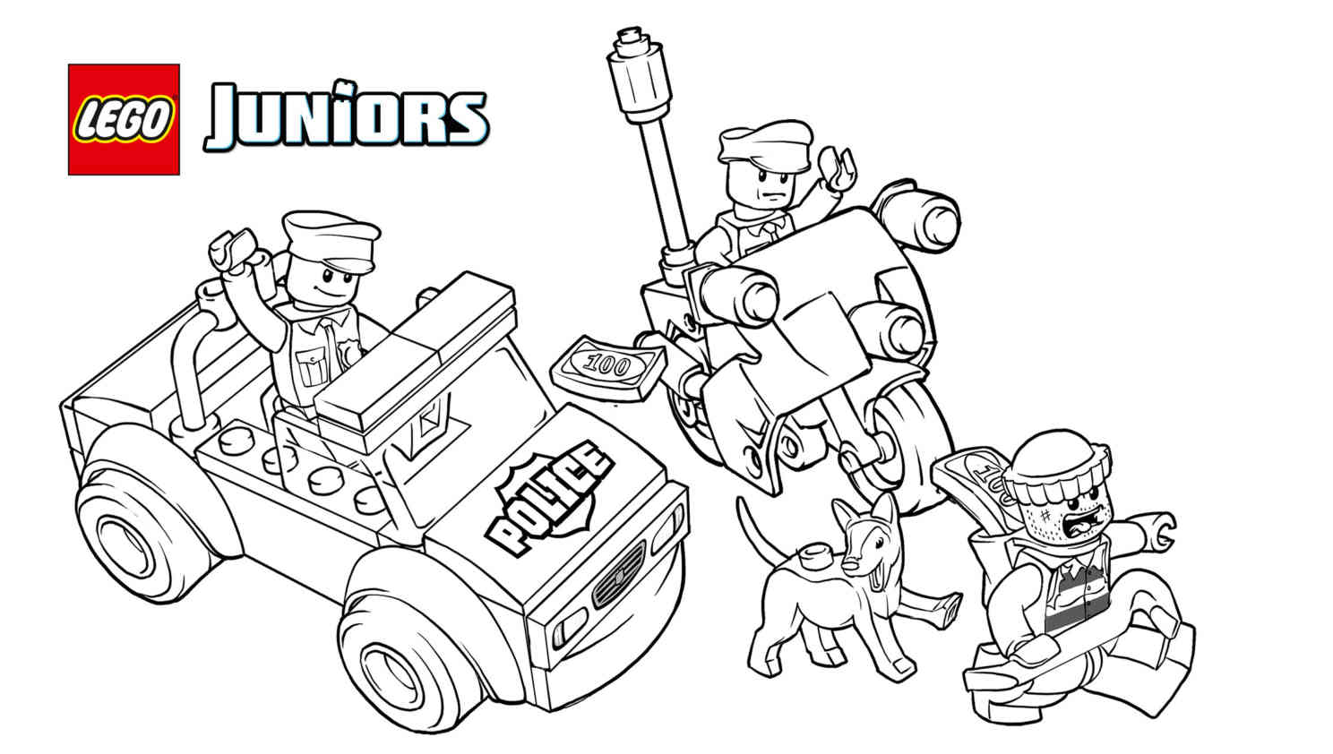 Free Printable Lego Police Coloring Pages High Quality Coloring