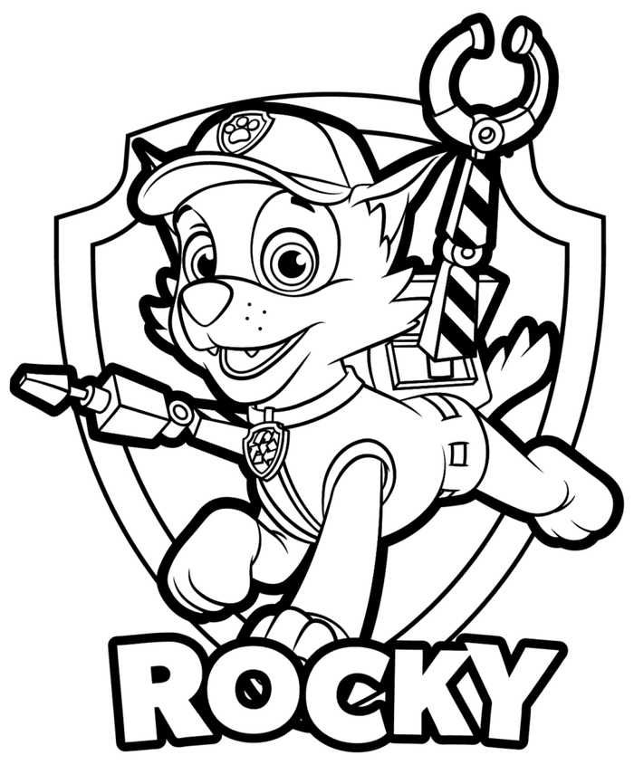 Paw Patrol Coloring Pages To Print | Paw patrol coloring, Paw ...