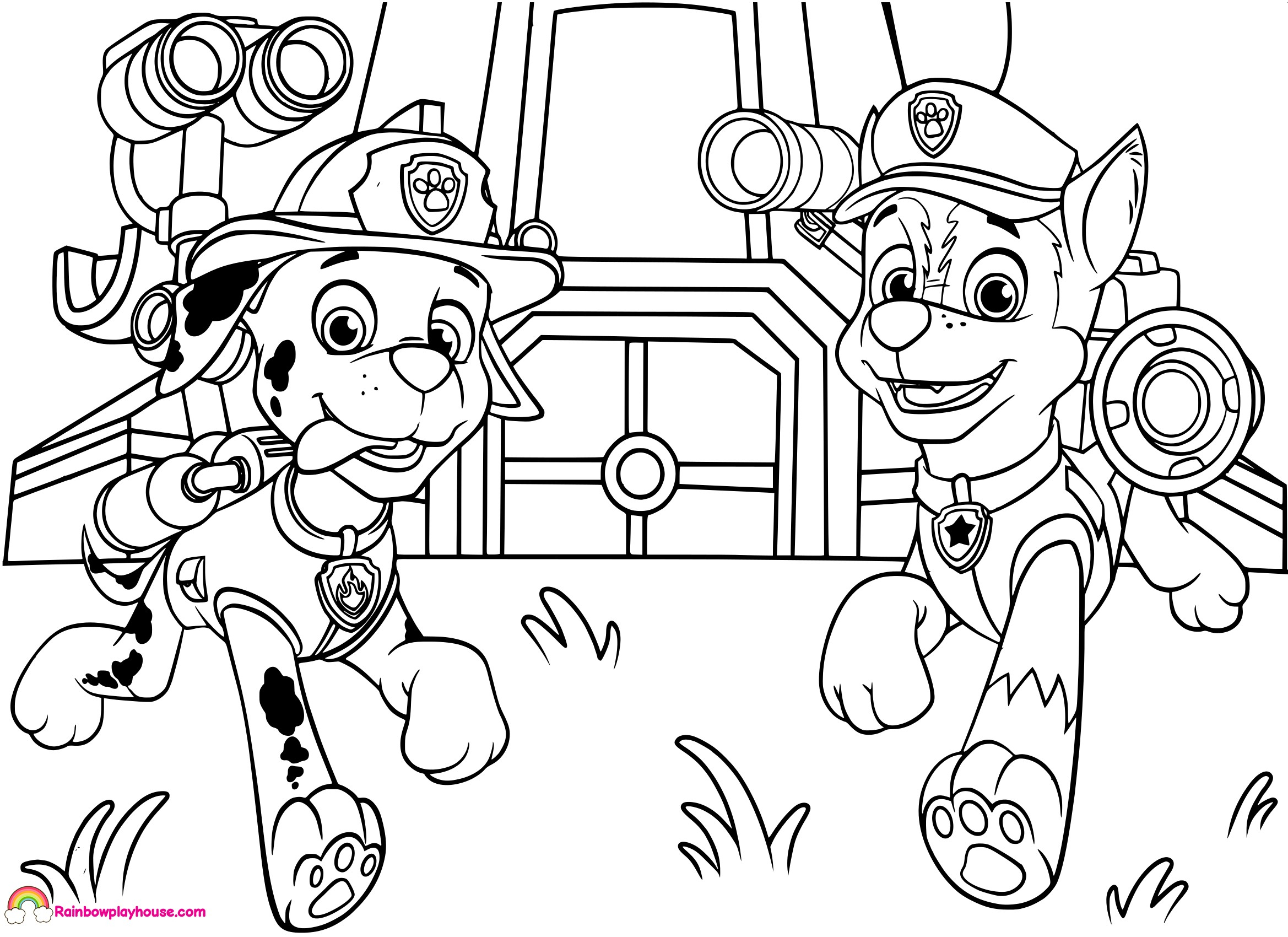 chase paw patrol coloring pages  coloring home
