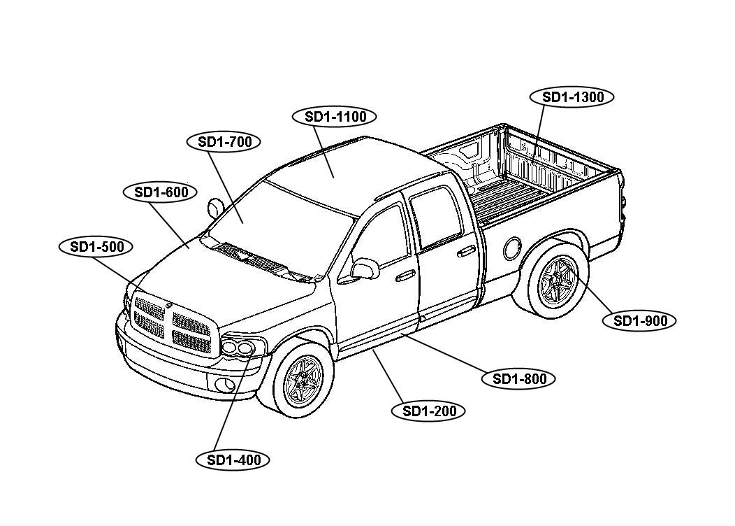 dodge truck colouring pages