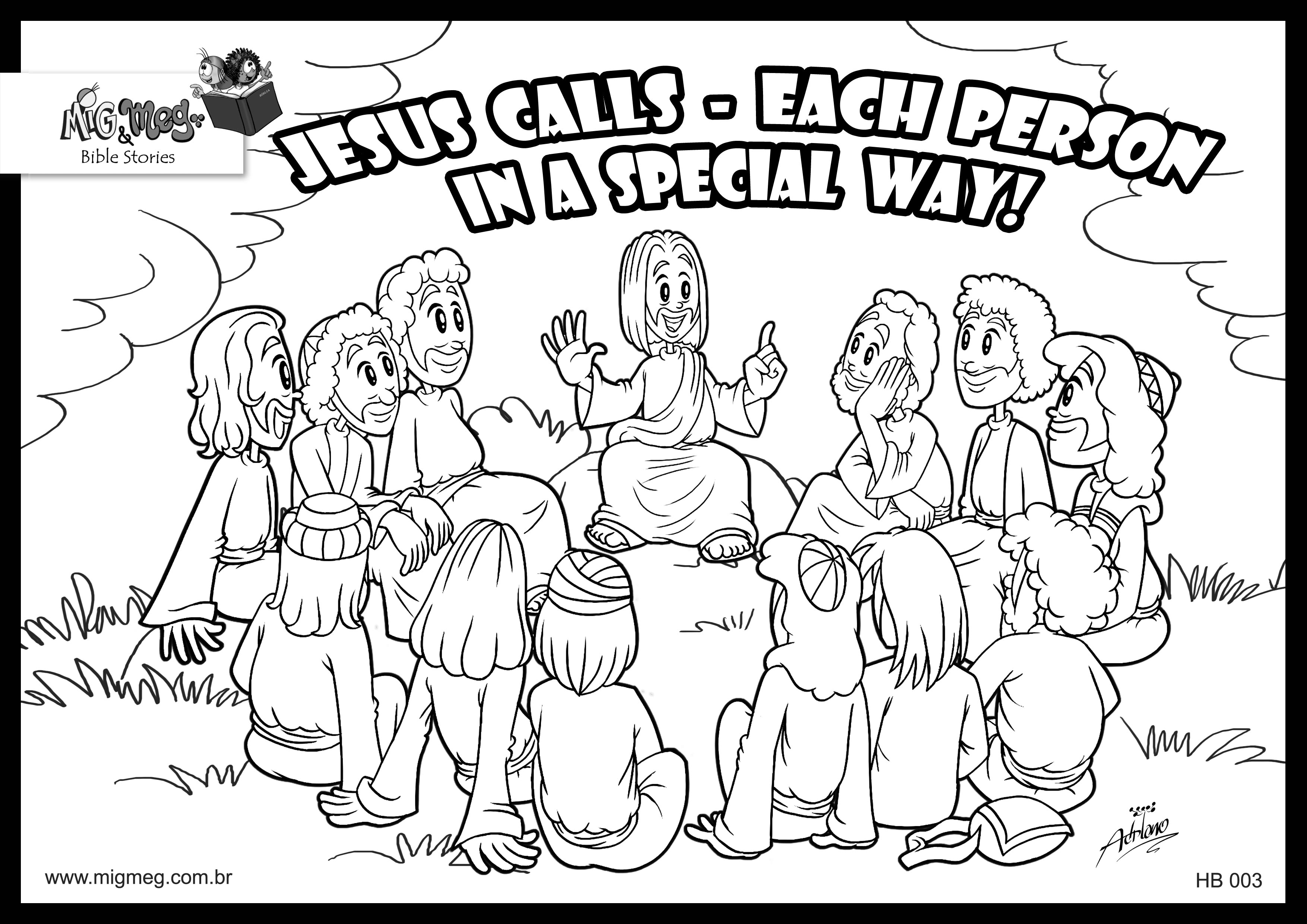 It is an image of Smart Jesus And Disciples Coloring Page
