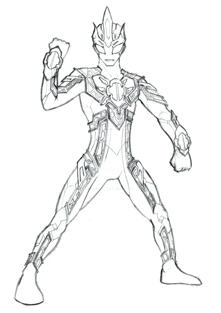 Ultraman Coloring Pages Free Allurepaper Co Coloring Home