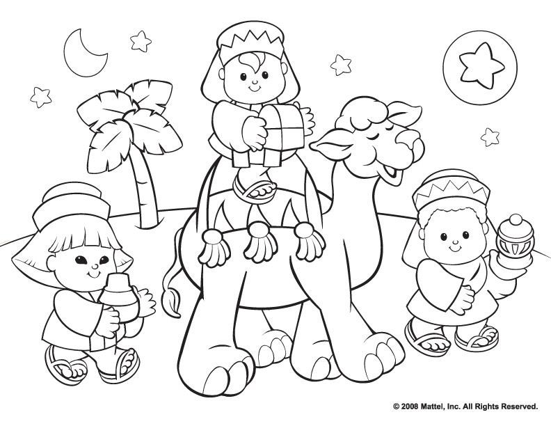 Religious Christmas Coloring Pages For Kids Coloring Home