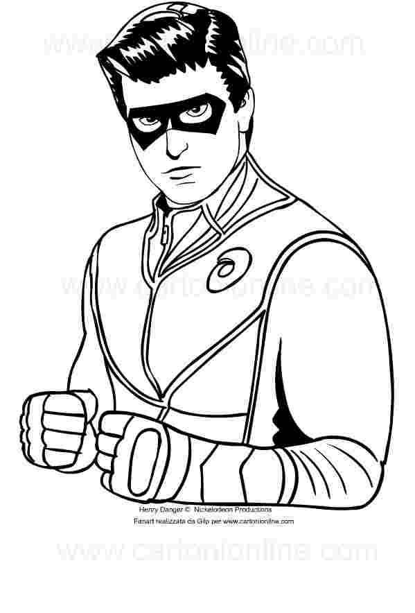 henry danger coloring pages coloring home