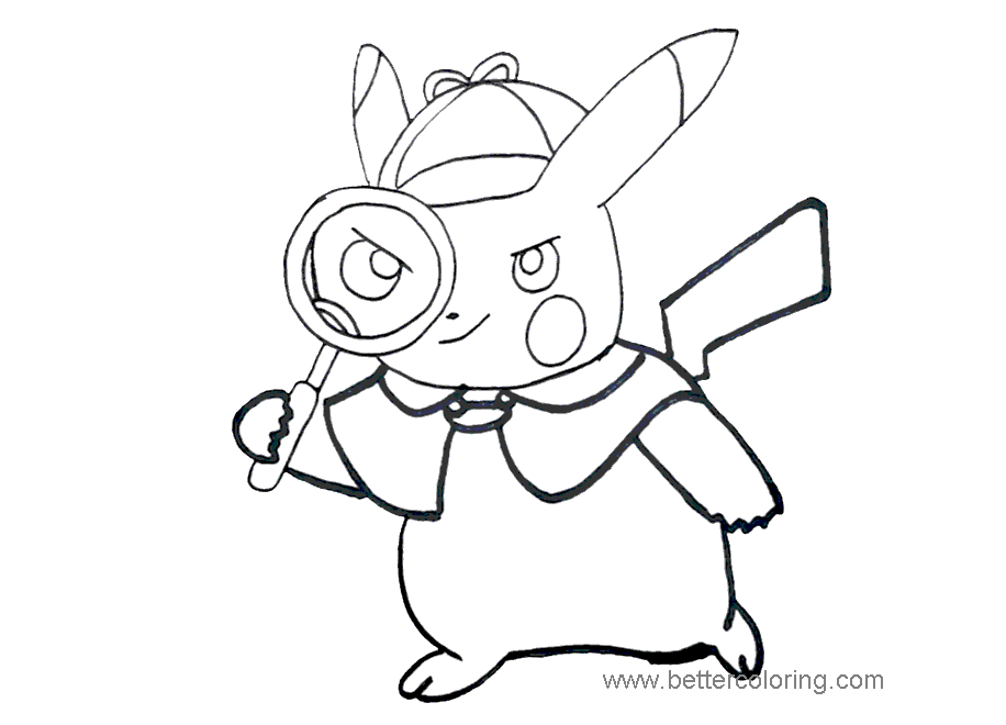 Pokemon Detective Pikachu Coloring Pages Hd Football Coloring Home