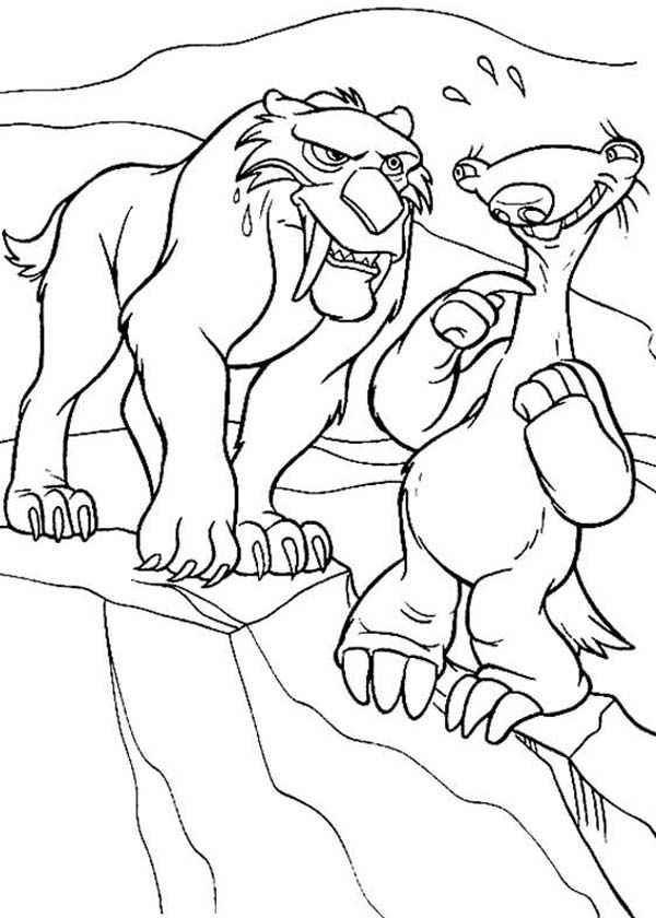 The Animals of the Ice Age Diego Falling in Love Coloring Pages ...