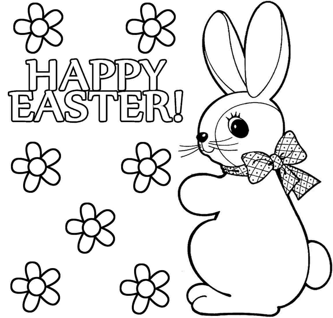 Printable Easter Bunny Coloring Pages Kids Free Printable ...