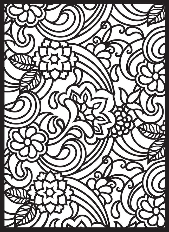 paisley pattern free printable stained glass coloring pages