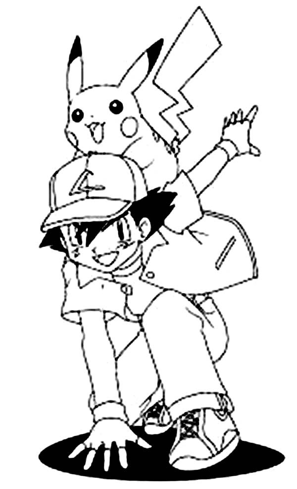 pikachu in action coloring pages - photo#22