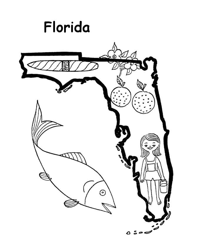 florida coloring pages - florida coloring page coloring home