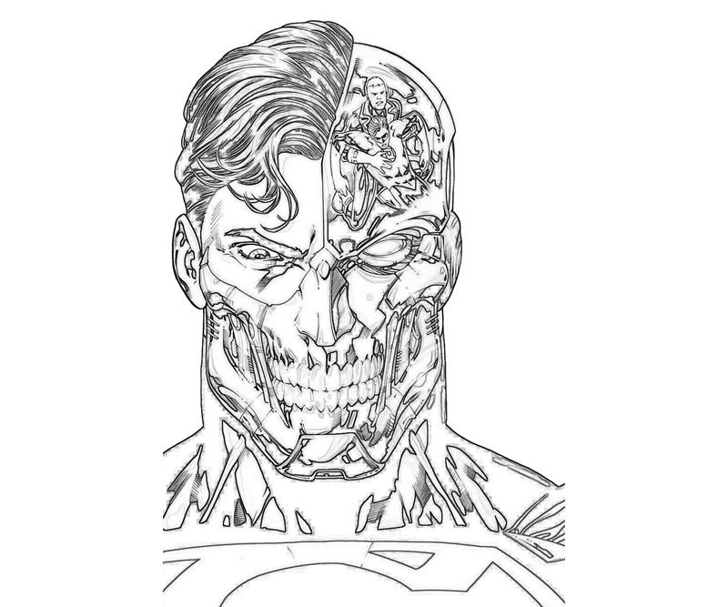 7 Pics Of Superman Face Coloring Pages Superman Flying Coloring