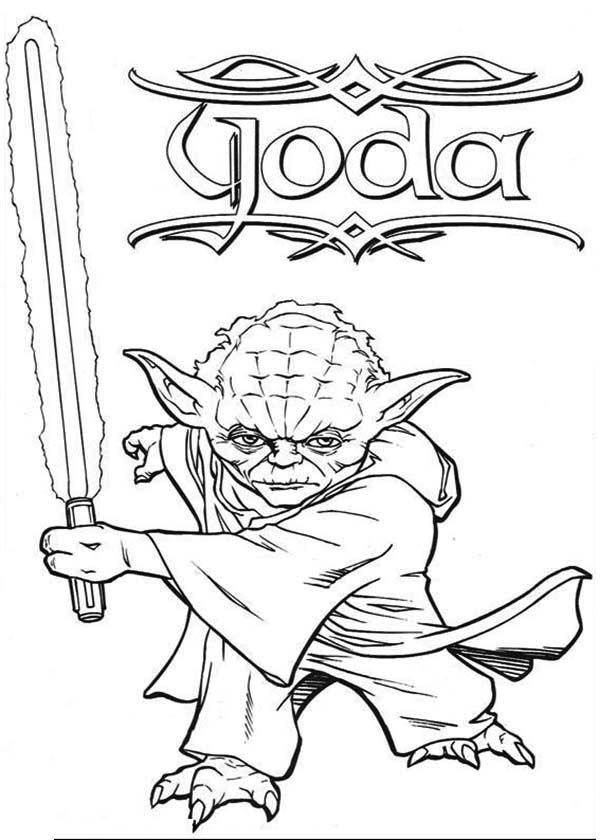 Star wars lightsaber coloring pages coloring home - Coloriage yoda ...