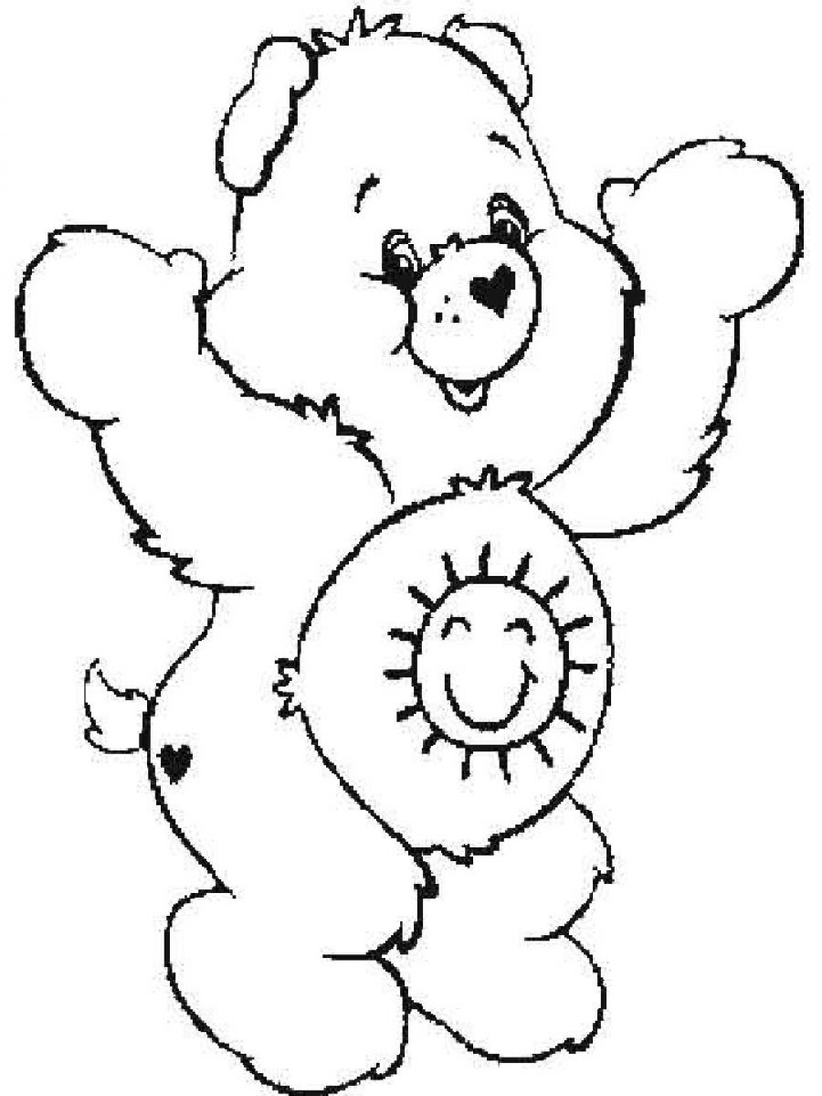 Free Coloring Pages Of Care Bears - Coloring Home