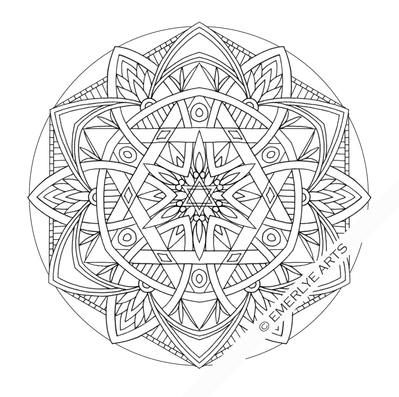 advanced mandala coloring pages printable - photo#31