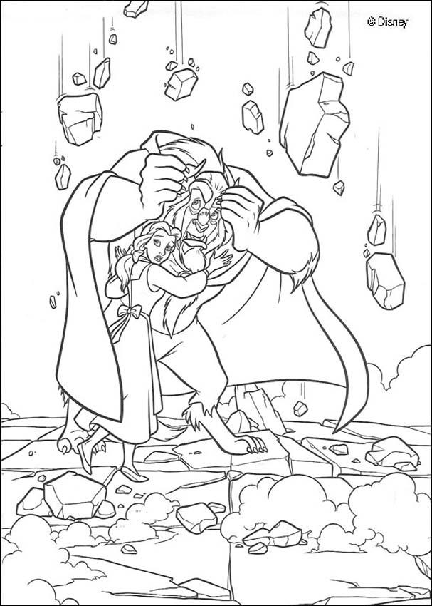 Top 10 Free Printable Beauty And The Beast Coloring Pages Online | 850x607