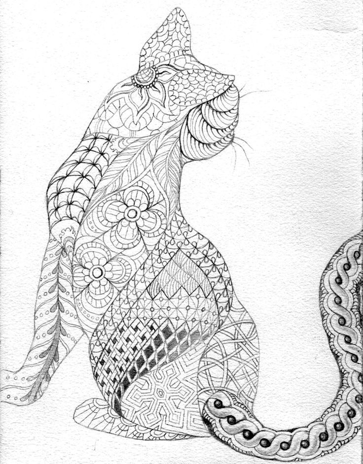 Cats With Hands Coloring Page