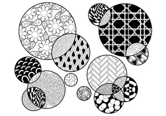 Coloring Pages | Circles Coloring Page Vector Coloring Pages