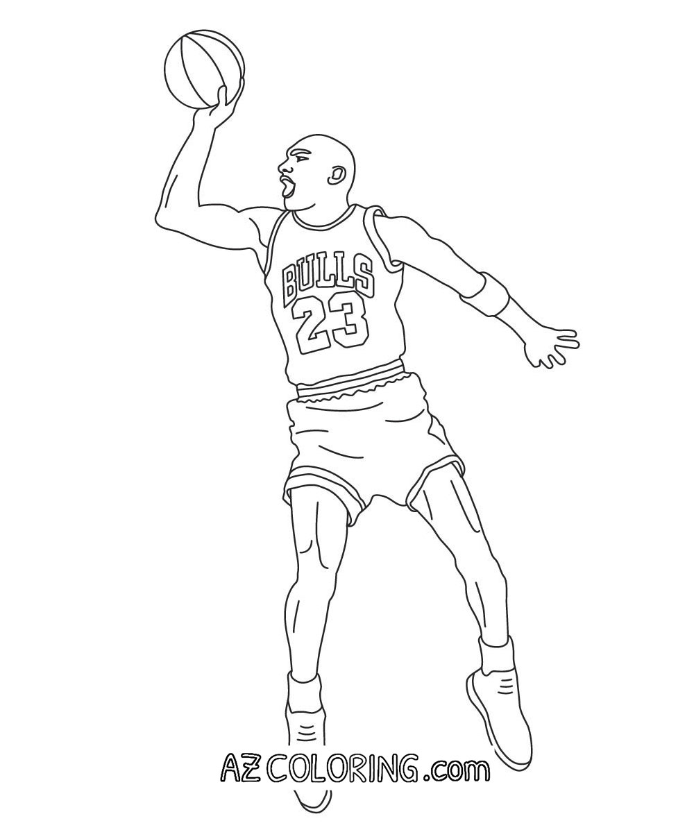 easy jordan coloring pages - photo#48