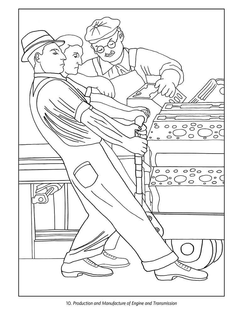 Diego Rivera: The Detroit Industry Murals Coloring Page