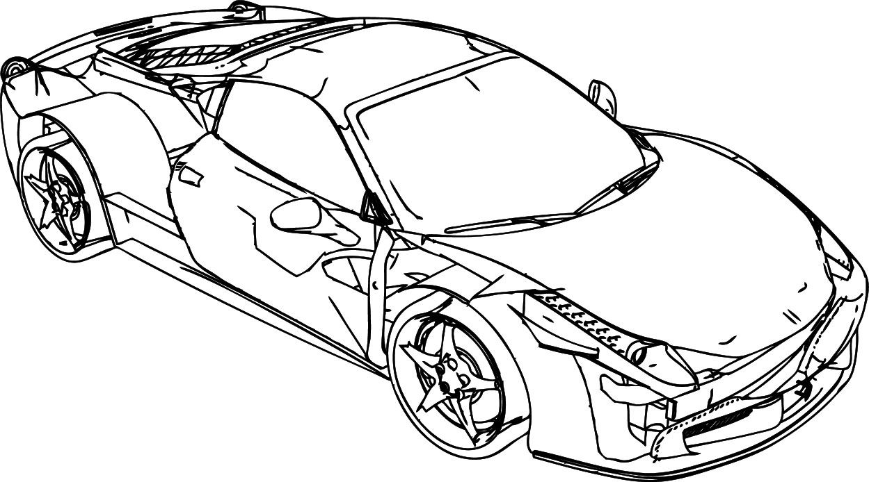 Ferrari Enzo Car coloring page | Free Printable Coloring Pages | 694x1249