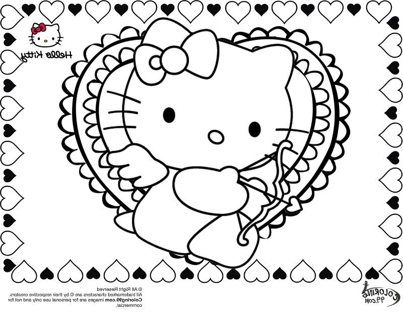 hello kitty coloring pages pdf - hello kitty valentines day coloring pages