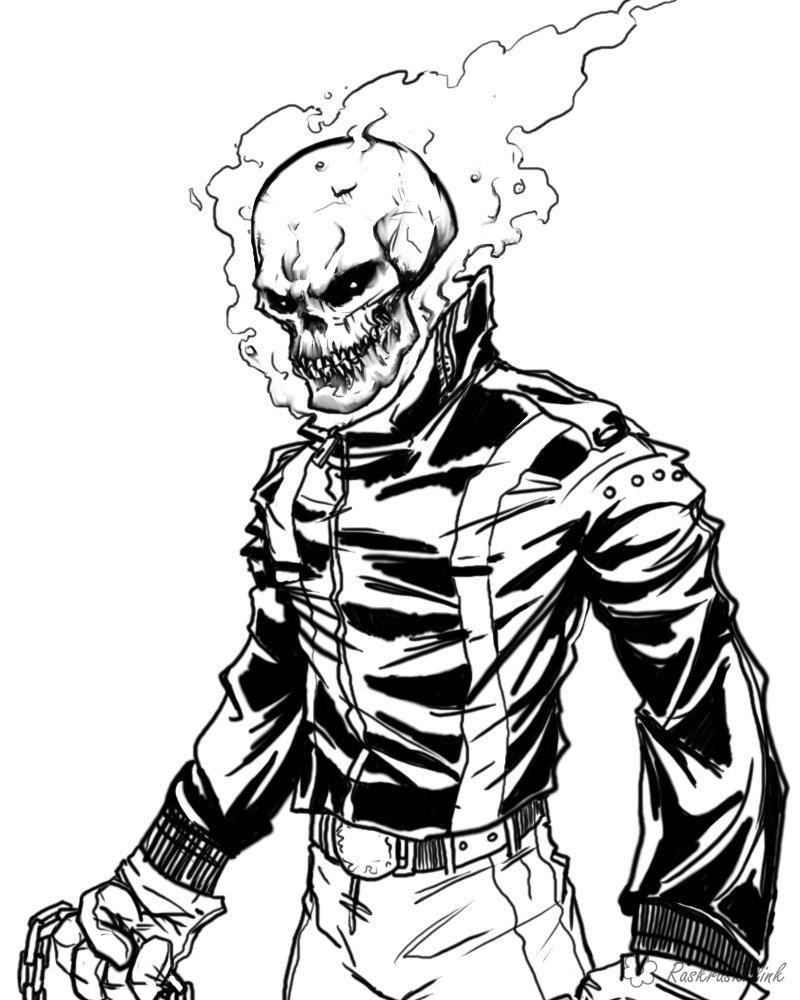 Ghost Rider Coloring Page Coloring