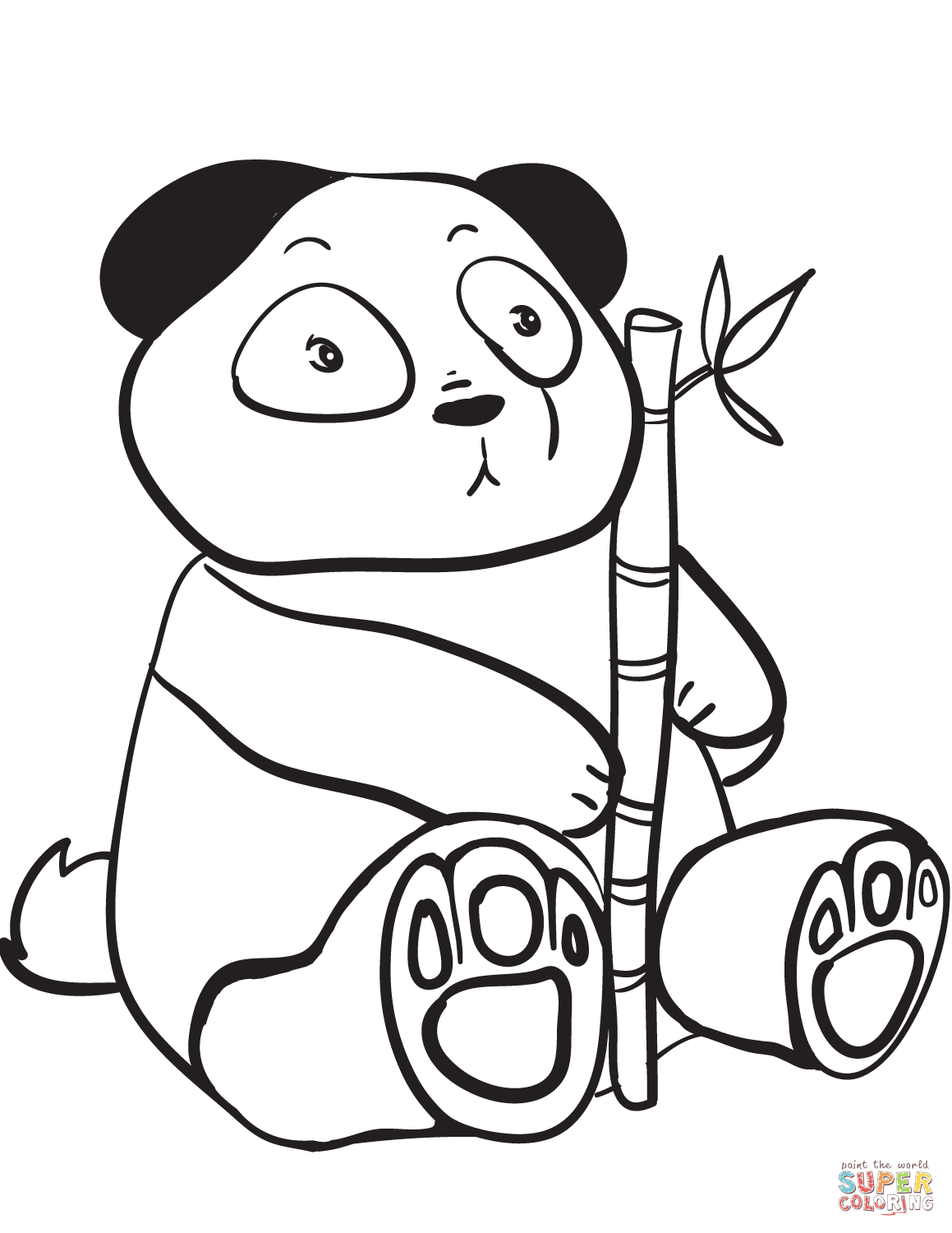 Cute Panda Coloring Pages Coloring Home Panda Coloring Page