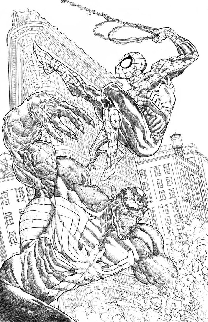 coloring pages online spiderman fighting - photo#11