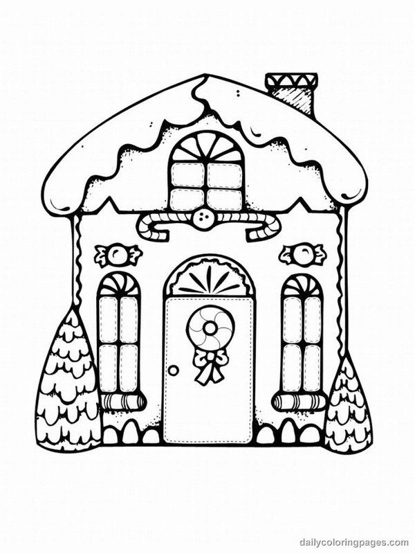 House Coloring Pages Pdf : Christmas houses coloring pages for all