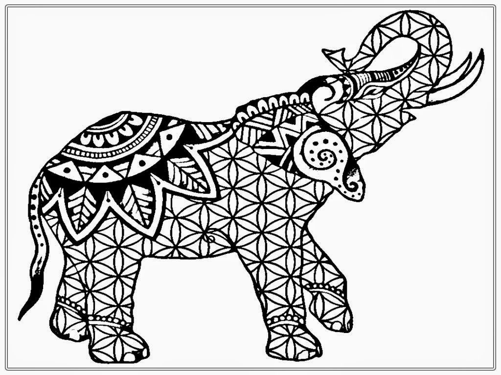 Adult Coloring Pages Free African Elephant Realistic 76