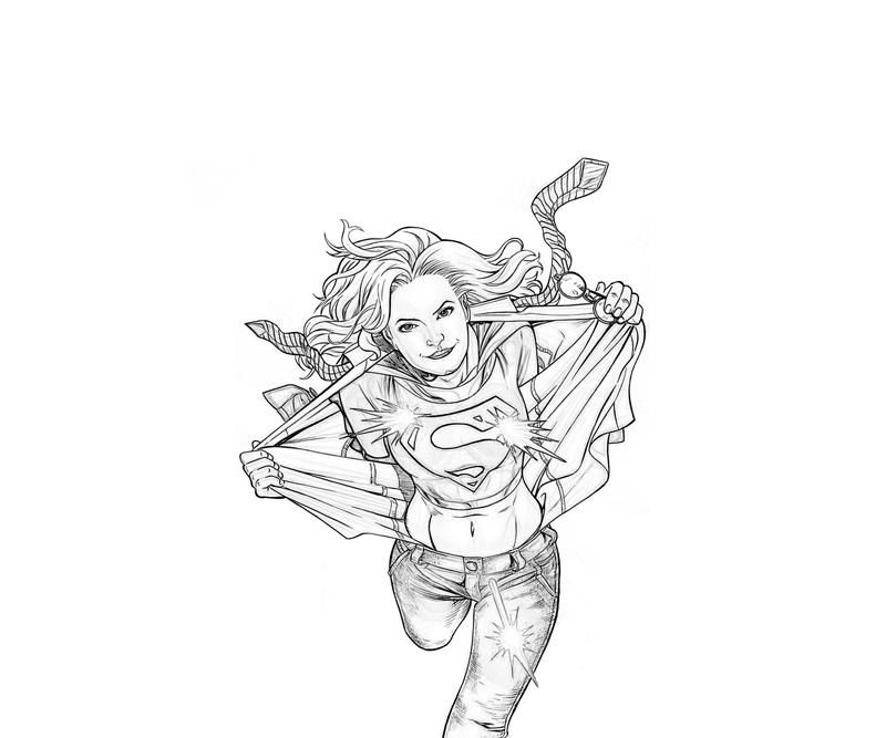 supergirl coloring pages printables - photo#31