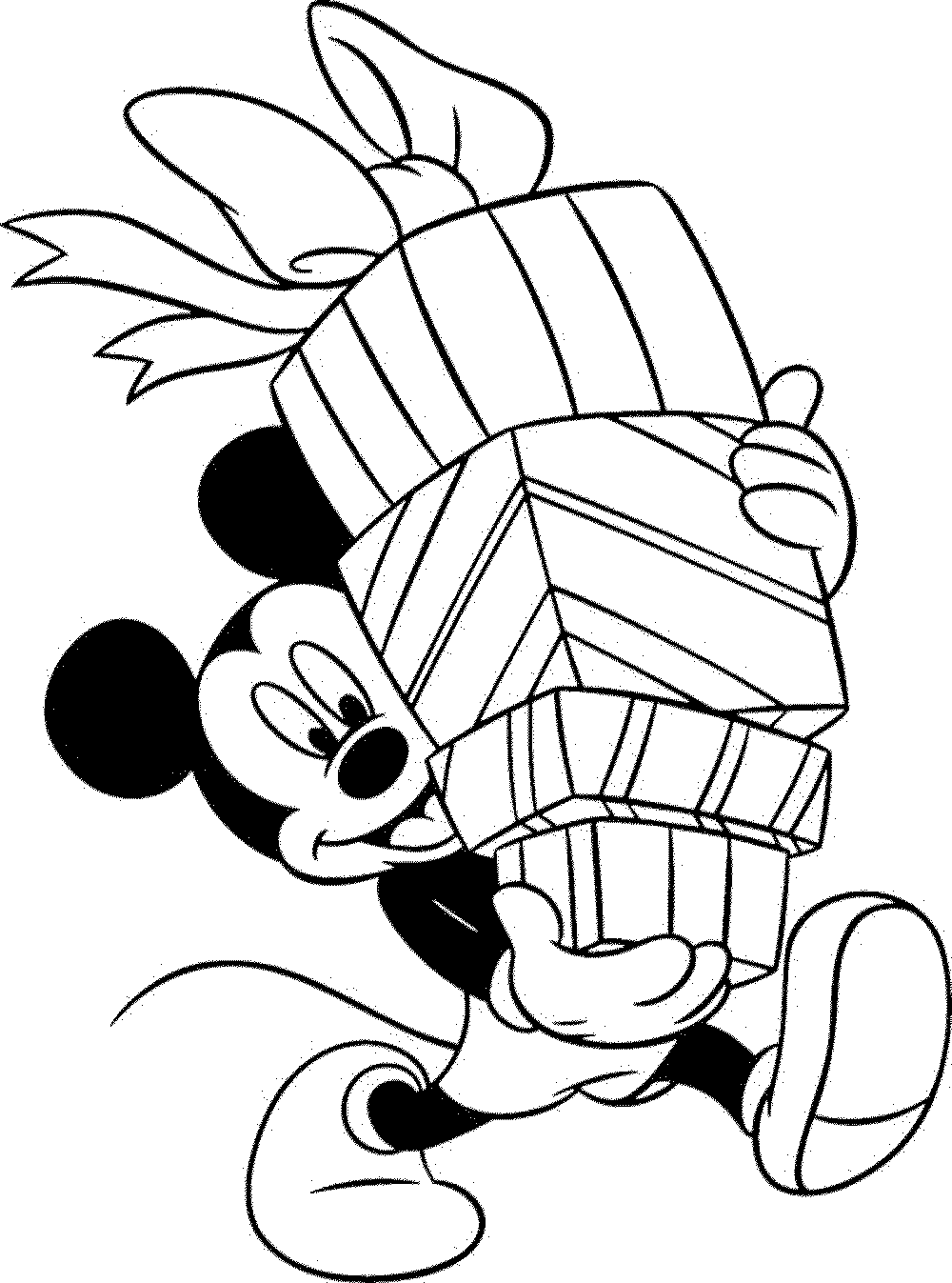 Coloring Pages Mickey Mouse Christmas : Mickey mouse christmas coloring page home