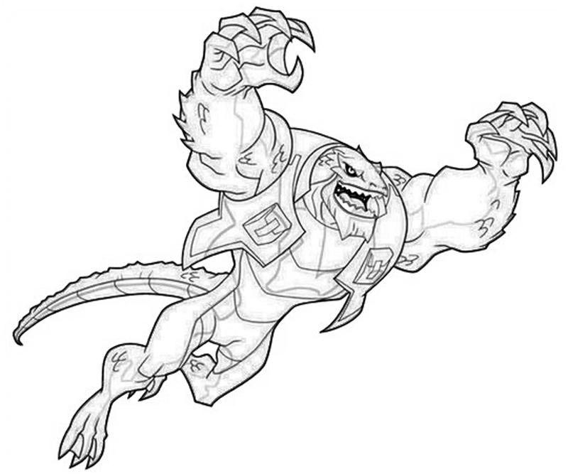 Ausmalbilder Batman Logo: Killer Croc Coloring Pages