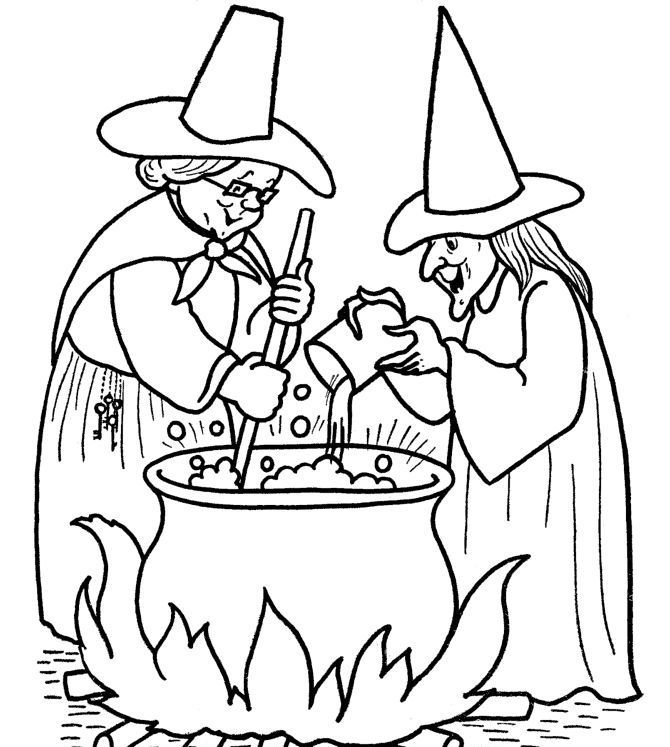witch-halloween-coloring-pages-printable - Coloring Kids