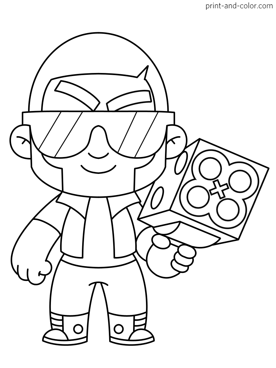Brawl Stars coloring pages | Print and Color.com