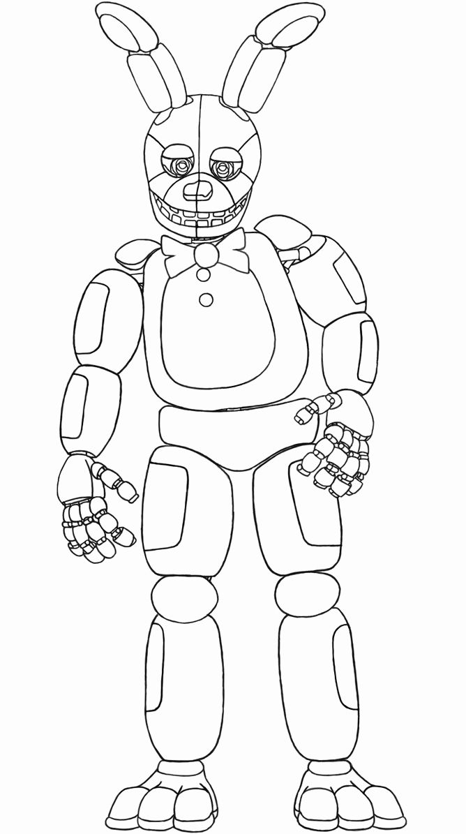 It is a photo of Five Nights at Freddy's Coloring Pages Printable pertaining to funtime